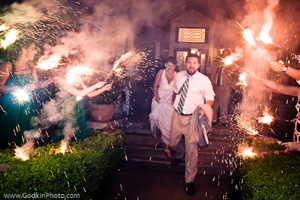 Sparklers at Cyrstal River Inn