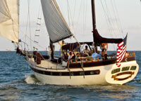 Windsong Chartes classic sailing ship