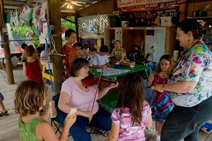 Kids workshop at Kerrville Folk Festival