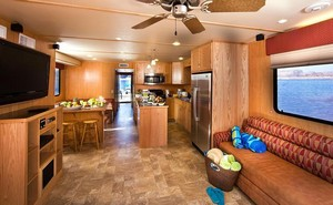 Living area of the houseboat