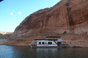 Our campsite on Lake Powell