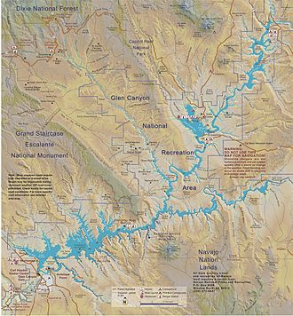 Map of Lake Powell