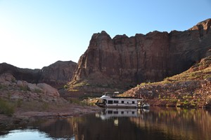 Houseboat camping