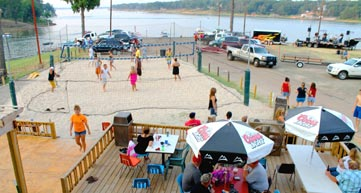 Beach volleyball at Barefoot Bay Marina