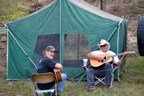 Singing in the campground