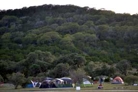 Hills and camping at 4 Sisters Ranch