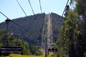 Chair lift ride to the summit