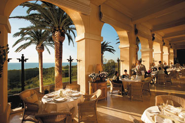 Dining on the terrace at Andrea Restaurant