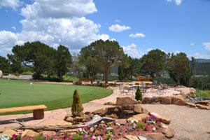 the putting green at Rainmakers
