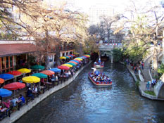 River Walk boat ride and restaurants