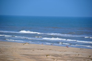 View of the beach at South Padre Island Adventure Park