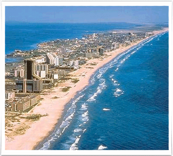 Satellite View Of South Padre Island