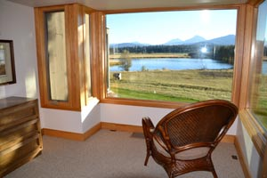 View from the master bedroom at Black Butte Ranch