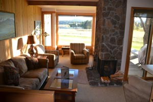 Condo living room at Black Butte Ranch