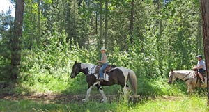Trail ride at Black Butte Ranch