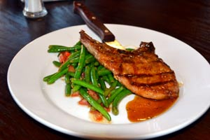 Jalepeno pork chops at Hideout Golf Club