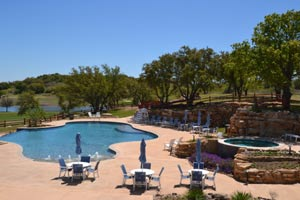 Pool complex at Hideout Golf Club