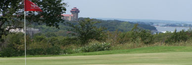Tanglewood Golf Course - View of the resort and lake