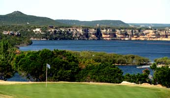 One of the holes overlooking Possum Kingdom Lake