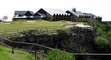 #9 at the Cliffs plays along a 200 foot bluff overlooking the lake