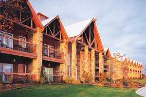The Inn at the Cliffs overlooks has great rooms overlooking the lake