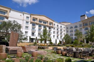 the courtyard at La Cantera