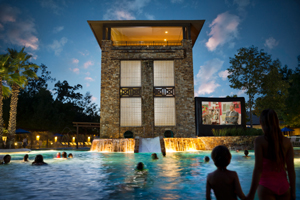 Swim in movies at The Woodlands  Resort