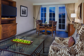 Parlor suite at the Hyatt Hill Country Resort