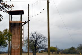 Tower, rappelling, rope latter, and swing