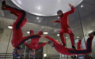 Instructors having fun in at iFly