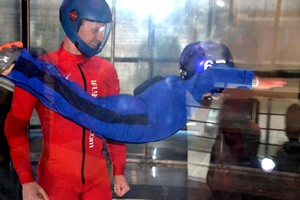 on his own at iFly