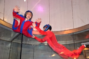 flying with Nolan at iFly