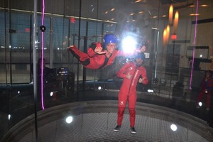 My daughter at iFly