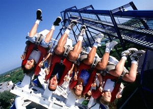 Upside down on the Great White at SeaWorld San Antonio