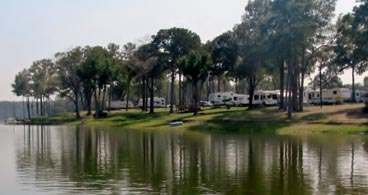 The campsites at Barefoot Bay Marina