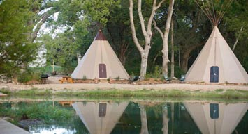 Stay in a tipi