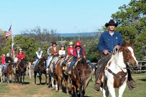 Trail ride at a Texas dude ranch