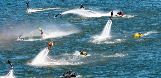 Flyboarding has hit Texas