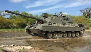 Drive a tank at Ox Ranch in Uvalde