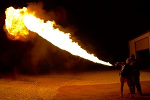 Flamethrower at Ox Ranch