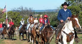 A trail ride at Twin Elm Dude Ranch
