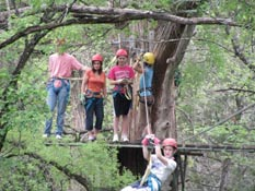 Zip line thru the trees at Cypress Valley Canopy Tours