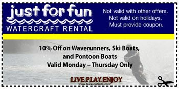 Just for Fun Boat Rental Coupon