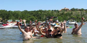 Party cove on Lake LBJ