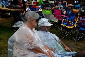a light drizzle at Cherokee Creek Music Festival