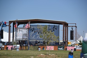 The stage at Crude Fest
