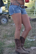Short levis and boots were everywhere at Crude Fest