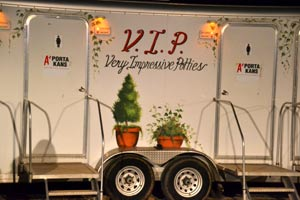 Air conditioned potties for VIPs