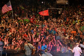 Fans at Larry Joe Taylor's Music Festival