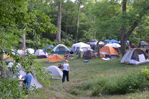 Camping at Old Settler's Music Festival